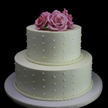 220x220 sq 1449520505799 trio of roses with smooth rope wedding cake