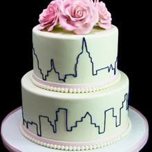 220x220 sq 1449521369853 elegant skyline wedding cake thumb