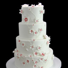 220x220 sq 1459533905859 cascading custom flowers wedding cake