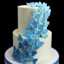 220x220 sq 1459534218632 butterfly cascade wedding cake thumb
