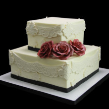 220x220 sq 1459534286166 trio of roses  lace wedding cake