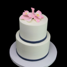 220x220 sq 1459534366873 tropical orchid 2 tier cake