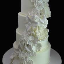 220x220 sq 1478200044116 floral white on white wedding cake