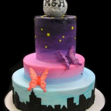 220x220 sq 1478200617614 moon with skyline wedding cake small