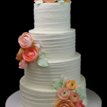 220x220 sq 1478201233240 ranunculus bouquet wedding cake