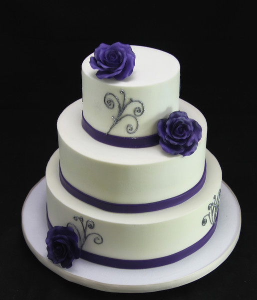 purple silver and white wedding cakes butterfly bakeshop new york ny wedding cake 18905