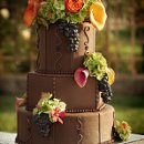 Fall Inspired Wedding Cake for a wedding in an olive orchard. 13, 10 & 7