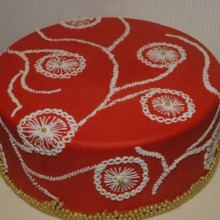 220x220 sq 1367941878779 red embroidery cake 1