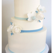 220x220 sq 1471120829011 3 tier blue gumpaste flowers