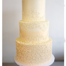 220x220 sq 1471120919081 buttercream peach lace cake