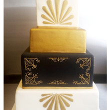 220x220 sq 1471120986760 square gold and black art deco cake
