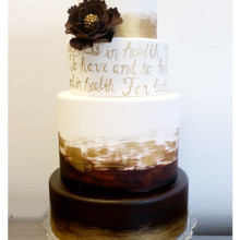 220x220 sq 1471121184454 brown gold vows gp flower cake