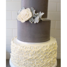 220x220 sq 1471121287973 gray and white ruffle cake