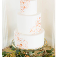 220x220 sq 1471121598780 rose gold painted flower cake