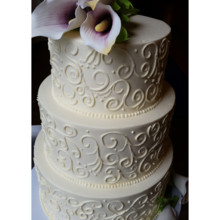 220x220 sq 1471121681893 scroll cala lily cake