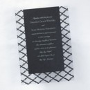 Clearly Sterling Invitation - Black: This invitation features a clear black designed base card with a black shimmer printed invitation. Available in many colors