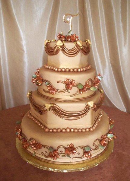 1318392856749 ElegantBronzeWed Frisco Wedding Cake
