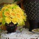 130x130 sq 1328753583147 weddingyellowrosecenterpiece