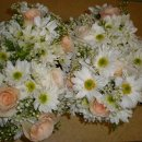 130x130 sq 1328753592152 weddingpeachandwhitebridesmaidsbouquets