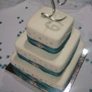 Fondant cake with rhinestone accents