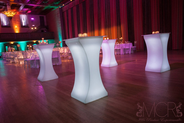 Mcr productions west pittston pa wedding rental for Cocktail tables led