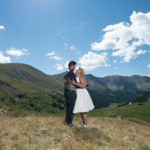 220x220 sq 1444016100428 loveland pass wedding bride and groom in scenic la