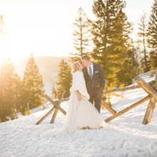 220x220 sq 1489809289373 sapphire point colorado march winter wedding sunse