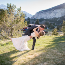 220x220 sq 1494473955664 mt princeton wedding sunset kiss dipping