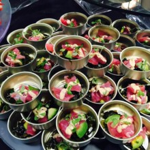 220x220 sq 1432668985262 iz catering artblink tuna cans food fun