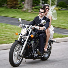 220x220 sq 1374778898189 wedding bride and groom riding motorcycle in columbus ohio bly photography