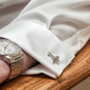 The grooms cufflinks in Falmouth, Massachusetts