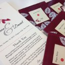 Custom Ceremony + Place cards with custom artwork to match wedding invitations