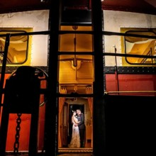 220x220 sq 1503187806169 september 2016 wedding couple in train