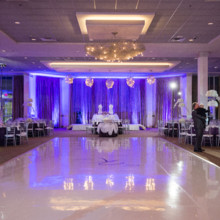 220x220 sq 1475683996063 vinyl dance floorwedding receptionblue uplightsstu