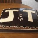 untraditional monogrammed wedding cake