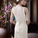 David&#39;s Bridal Collection  <br />Style MK3535  <br /> All Over Lace Tank Gown with Illusion Back