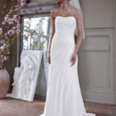 David's Bridal Collection  Style V3540  Crinkle Chiffon Gown with Asymmetrical Draping