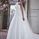 David&#39;s Bridal Collection  <br /> Style WG3561  <br /> Strapless All Over Beaded Lace Ball Gown