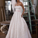David&#39;s Bridal Collection  <br /> Style WG3578  <br /> Blossom Print Satin Ball Gown