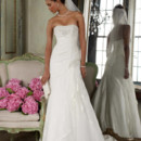 David&#39;s Bridal Collection  <br /> Style YP3344  <br />Strapless Lace Fit-and-Flare Gown with Side Split