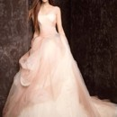 White by Vera Wang  <br /> Style VW351157  <br /> Ombre Tulle Ball Gown with Pick Up Skirt
