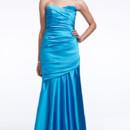 David's Bridal Style F15586  Long Strapless Stretch Satin Dress