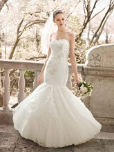 Oleg Cassini Style CWG482  <br /> Beaded Layered Lace Fit and Flare Gown