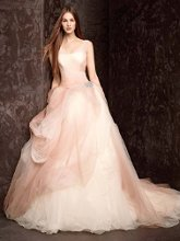 White by Vera Wang VW351157 Ombre Tulle Ball Gown with Pick Up Skirt