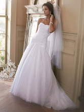 David&#39;s Bridal Collection  <br /> Style V3558  <br /> Sweetheart Sequin Tulle Ball Gown with Corset Back