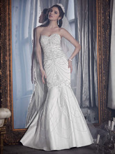 David&#39;s Bridal LUXE  <br /> Style PWG3443  <br /> Fit-and-Flare Sweetheart Gown with Allover Beading