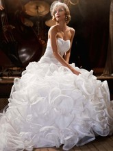 Galina Signature  <br /> Style SWG492  <br />Ball Gown with Embellished Waist and Ruffled Skirt