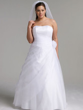 DB Woman  <br /> Style 9OP1204  <br /> Long Organza Gown with Flower Detail at Waist