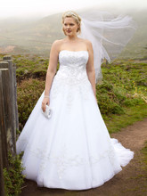 DB Woman  <br /> Style 9WG9927  <br /> Strapless Tulle Ball Gown with Satin Bodice