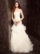 White by Vera Wang  <br />WVW3511662  <br /> Strapless Tulle and Organza Fit and Flare Gown